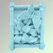 Силиконовая форма Бабочка на цветке