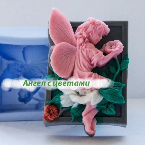 Цветочное сердце силиконовая форма